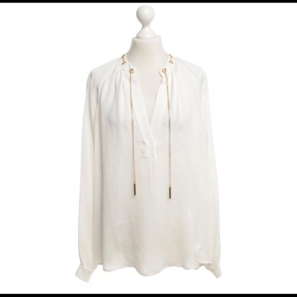 11a836ad6f4dd New MICHAEL Michael Kors Chain Trim Blouse. M 5aa886c43b1608db8dba1dce.  Other Tops ...